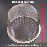 Acessórios do filtro filtro do chá do engranzamento de fio/do filtro/café tecidos do chá/jogo de chá/cesta do filtro aço inoxidável/cesta Infuser do chá