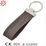 Chave de couro personalizado de amostras grátis para presente de promoção