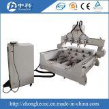 Quatro Fusos e quatro cabeças Madeira Router CNC de trabalho modelo 3D
