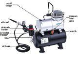 Pressure GaugeのAs186 Mini Airbrush Compressor