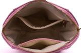 Bolso cosmético del bolso de cuero del maquillaje de la PU de la dimensión de una variable del shell de la manera para las señoras