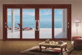 水平のちょうつがい式に回転したWindowsかドアに二重ガラスをはめるアルミニウム緩和されたガラス