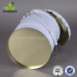 Custom окрашенные металлические ведра химических контейнеров 20L с фигурными /цветочный край крышки багажника