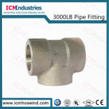 3000 lb de tubos de acero inoxidable de alta presión de la Toma de montaje de la t