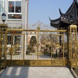 De Chinese Nieuwe Goedkope Omheining van de Pijpen van het Staal van de Deklaag van de Macht van de Veiligheid van het Smeedijzer Mondern Poorten Gegalvaniseerde