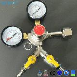 Deux connecteurs de sortie du régulateur de CO2 pour les boissons de l'équipement de la bière