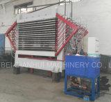 Máquina de secador de chapa de madera 15 capas de chapa prensa caliente secadora