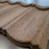 Les matériaux de construction en pierre de couleur avec du métal recouvert de tuiles