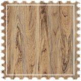 Pisos laminados en relieve de la Junta de patrón de madera de teca para interiores, decoración de tierra