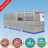 10 de Machine van het Ijsblokje Tons/24h met PLC het Systeem van de Controle en het Systeem van de Verpakking voor de Installatie en de Staven van het Ijs