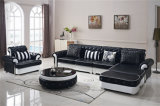 أثاث لازم بيتيّة حديث خشبيّة جلد أريكة