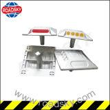Sola etiqueta de plástico de cristal lateral de aluminio del espárrago del camino con Catseye/Cateye