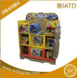 Surgir el estante del almacenaje de la pared del azulejo del soporte de visualización de la venta al por menor del suelo de la cartulina