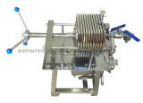 Filtre à huile de coton/plaque en acier inoxydable de type petit portable Filtre presse