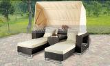 Salotto esterno del Daybed del sofà del rattan Mtc-126 con Sun Unbrella per il giardino esterno