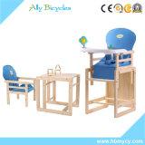 Деревянный ребенок есть высокий стул Chair/3in1/младенца обедая стул