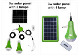 Lámpara solar del LED con la fuente de alimentación móvil solar del panel solar