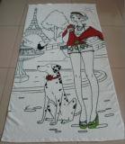 タオルまたはビーチタオルまたは浴室のタオルまたは表面タオルかふきん