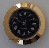 Movimiento de cuarzo Insertar Tono Plata redonda reloj Mini con números