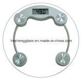 6mm Llanura Ronda de vidrio templado como Báscula Top