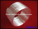 Helicoidal opaco de alta pureza del tubo de cristal de cuarzo.