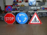 도로 안전한 알루미늄 경고 소통량 LED 표시 상징 교통 표지