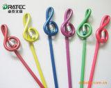 Polymère de haute qualité forme hexagonale crayons HB avec la Gomme astuce