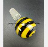 Bouche mâle 14.5mm, garnitures d'abeille de miel de pipe en verre de narguilé de 18.8mm