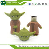 Movimentação preta do flash do USB do PVC do lutador de Star Wars para presentes