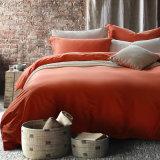 Luxuosa roupa de cama de algodão sólido conjunto de tampa de edredão