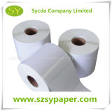 Papel de escritura de la etiqueta auto-adhesivo termal de papel sintetizado para la impresión de Digitaces