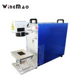 高品質の管PVC PEの金属20W 30Wのファイバーレーザーのマーキング機械