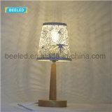 Lampada della Tabella per le lampade della Tabella del salone per le decorazioni di legno della casa della lampada del paralume bianco dell'indicatore luminoso di notte della camera da letto per il salone