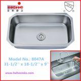 Bassin de cuisine simple de cuvette de 18 mesures avec la conformité de Cupc, bassin de barre (8047)