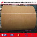 Bobina de aço Shandong Madeira galvanizado PPGI PPGL