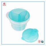 Três células grade Caixa Prático Recipiente para leite em pó para bebés