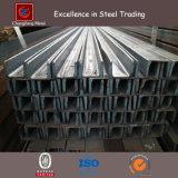 Preto / Galvanizado Superfície laminada a quente em forma de U Steel Channel Steel