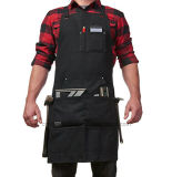Heavy Duty Waxed Canvas Full Length Denim Pockets Tool BBQ Apron