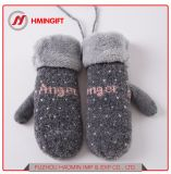 Осенью и зимой новых теплых перчатки трикотажные пакет плюс бархата Симпатичные мягкие женские строп предохранительного пояса перчатки