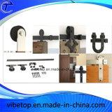 Hardware de puerta de granero de acero negro de alta calidad