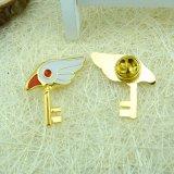 Таможня конструировала ключевой Pin отворотом золота металла формы