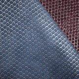 Geprägte synthetische künstliche Faux PU ahmen Leder für Beutel-Schuh nach