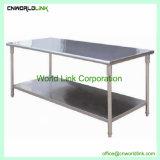 Hotel de la cocina de acero inoxidable mesa de trabajo de la plataforma