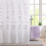 軽食のカートン白くおよび黒いPEVAは浴室のためのシャワー・カーテンを防水する