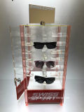 Novo visor de acrílico para óculos de Bancada 24 Titulares Caso Rotativa