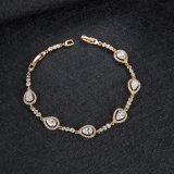 De Gouden Armband van Rhongstone CZ van de Juwelen van de Gift van de Dag van de valentijnskaart