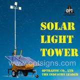 Amplia zona de operación de larga duración torres de luz solar portátil