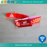 Braccialetto del tessuto del Wristband tessuto RFID NFC di accesso Ntag213 di festival