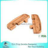 Bamboo диск партии головоломки плиты 2 частей собирает Bamboo доску бамбука диска