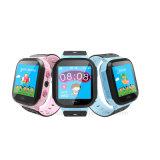 Телефон вахты отслежывателя GPS малышей экрана касания с электрофонарем (D26)